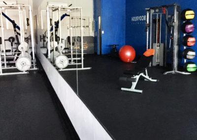 Studio cable machine and squat rack
